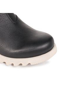 Czarne buty zimowe sorel casualowe, na co dzień, z cholewką