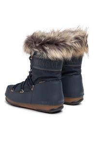 Niebieskie śniegowce Moon Boot z aplikacjami, z cholewką, na zimę #7