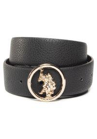 U.S. Polo Assn - Pasek Damski U.S. POLO ASSN. - Gardena Women's Belt 35H WIUGC2212WHA/000 Black. Kolor: czarny. Materiał: skóra