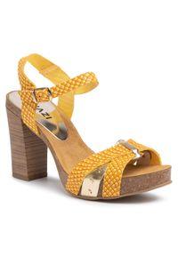Żółte sandały QUAZI na co dzień, casualowe