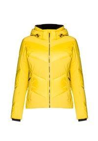 Descente - Kurtka narciarska DESCENTE AURORA. Kolor: żółty. Sport: narciarstwo