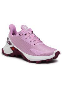 Różowe buty do biegania salomon z cholewką