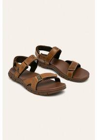 Brązowe sandały CATerpillar na rzepy