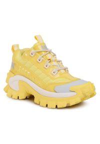 CATerpillar - Sneakersy CATERPILLAR - Intruder P110044 Lemon. Okazja: na co dzień. Kolor: żółty. Materiał: materiał. Szerokość cholewki: normalna. Sezon: lato. Obcas: na płaskiej podeszwie. Styl: casual
