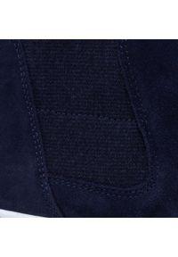 Niebieskie botki Gabor z cholewką