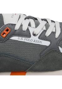 U.S. Polo Assn - Sneakersy U.S. POLO ASSN. - Lewis LEWIS4143S1/HM1 Grey. Okazja: na spacer, na co dzień. Kolor: szary. Materiał: skóra ekologiczna, skóra, materiał, zamsz. Szerokość cholewki: normalna. Styl: sportowy, casual