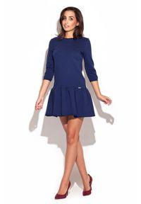 Niebieska sukienka dzianinowa Katrus