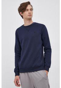 G-Star RAW - G-Star Raw - Bluza D16917.C235. Kolor: niebieski. Materiał: dzianina. Wzór: gładki