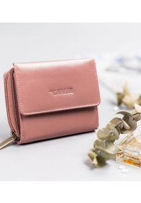 4U CAVALDI - Portfel damski różowy Cavaldi RD-DB-09-GCL-8751 WO. Kolor: różowy. Materiał: skóra