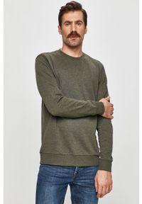Zielona bluza nierozpinana Only & Sons casualowa, bez kaptura, na co dzień