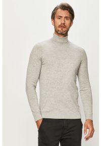 Szary sweter s.Oliver z golfem, melanż