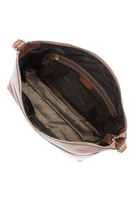 Brązowa torebka worek Wittchen duża, z aplikacjami, retro