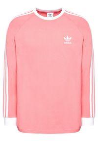 Różowa koszulka z długim rękawem Adidas