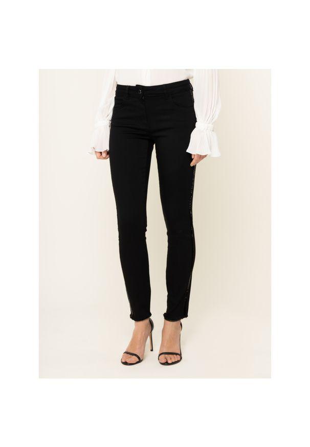 Czarne jeansy slim Luisa Spagnoli