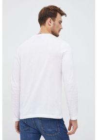 Lacoste - Longsleeve. Okazja: na co dzień. Kolor: biały. Materiał: materiał. Długość rękawa: długi rękaw. Styl: casual