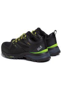 Czarne buty trekkingowe Jack Wolfskin trekkingowe