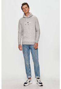 Szara bluza nierozpinana Tommy Jeans casualowa, z kapturem, na co dzień