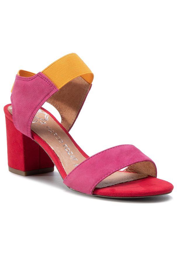 Różowe sandały Marco Tozzi casualowe, na co dzień