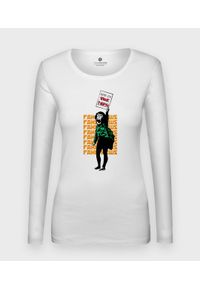 MegaKoszulki - Koszulka damska z dł. rękawem Stop Fake News. Materiał: bawełna
