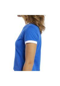 Koszulka damska Reebok Training Essentials Linear FK6682. Materiał: bawełna, materiał, elastan. Długość rękawa: krótki rękaw. Długość: krótkie. Wzór: napisy