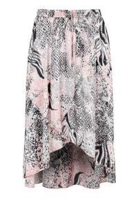 Cellbes Wzorzysta spódnica kopertowa we wzory female ze wzorem 58/60. Okazja: na co dzień. Materiał: tkanina, guma. Długość: krótkie. Styl: elegancki, casual