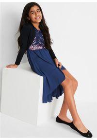 Sukienka dziewczęca na uroczyste okazje z tiulową wstawką bonprix kobaltowy. Kolor: niebieski. Materiał: tiul #3