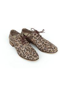 Półbuty Zapato do pracy, biznesowe, w kolorowe wzory