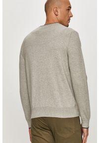 Szary sweter Polo Ralph Lauren z nadrukiem, długi, casualowy, na co dzień