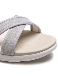Srebrne sandały Geox casualowe, z aplikacjami