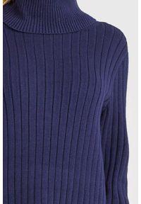 Sweter Armani Exchange do pracy, z golfem, w kolorowe wzory