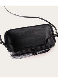 BALAGAN - Czarna torebka ROFE M CROCE. Kolor: czarny. Styl: vintage, elegancki, casual
