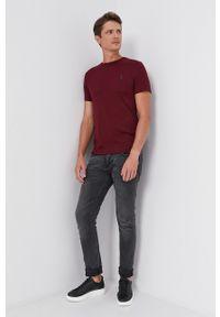 Polo Ralph Lauren - T-shirt bawełniany. Okazja: na co dzień. Typ kołnierza: polo. Kolor: czerwony. Materiał: bawełna. Wzór: gładki. Styl: casual