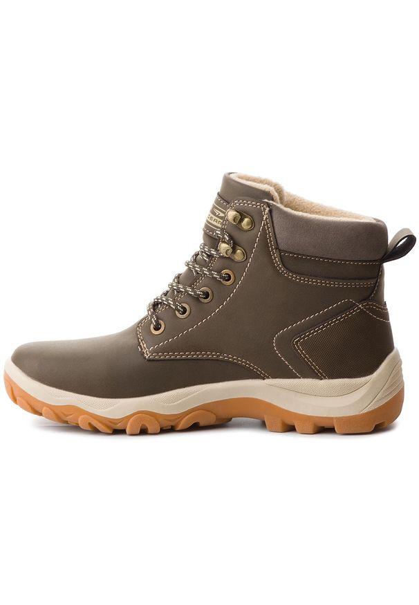 Zielone buty trekkingowe Sprandi z cholewką, trekkingowe