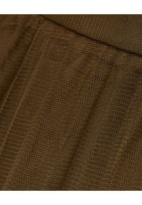 HEMISPHERE - Spódnica khaki z tiulu. Kolor: brązowy. Materiał: tiul. Sezon: zima, jesień. Styl: klasyczny