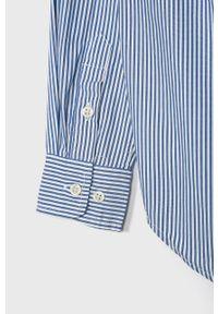 Niebieska koszula Polo Ralph Lauren casualowa, na co dzień, długa, polo