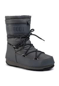 Szare śniegowce Moon Boot z cholewką, na zimę