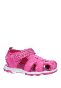 Casu - Różowe sandały na rzep casu jf15/8. Zapięcie: rzepy. Kolor: różowy