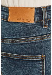 Niebieskie jeansy Noisy may z podwyższonym stanem