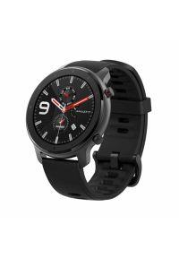 Czarny zegarek AMAZFIT smartwatch, casualowy