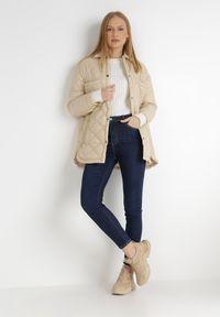 Born2be - Granatowe Jeansy Skinny Aveanor. Kolor: niebieski. Długość: długie. Styl: elegancki