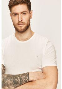 Biały t-shirt Calvin Klein Underwear na co dzień, z nadrukiem, casualowy
