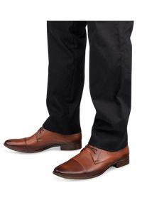 IGUANA LIDER - Półbuty męskie Iguana Lider 269D-606 Brązowe. Zapięcie: sznurówki. Kolor: brązowy. Materiał: tworzywo sztuczne, skóra. Obcas: na obcasie. Styl: elegancki. Wysokość obcasa: średni