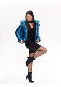 TROLL - Sukienka damska z cekinami. Okazja: na imprezę. Kolor: czarny. Materiał: materiał. Długość rękawa: krótki rękaw. Sezon: jesień, zima. Styl: elegancki #4