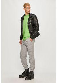 Czarna kurtka Calvin Klein Jeans z kapturem, na co dzień