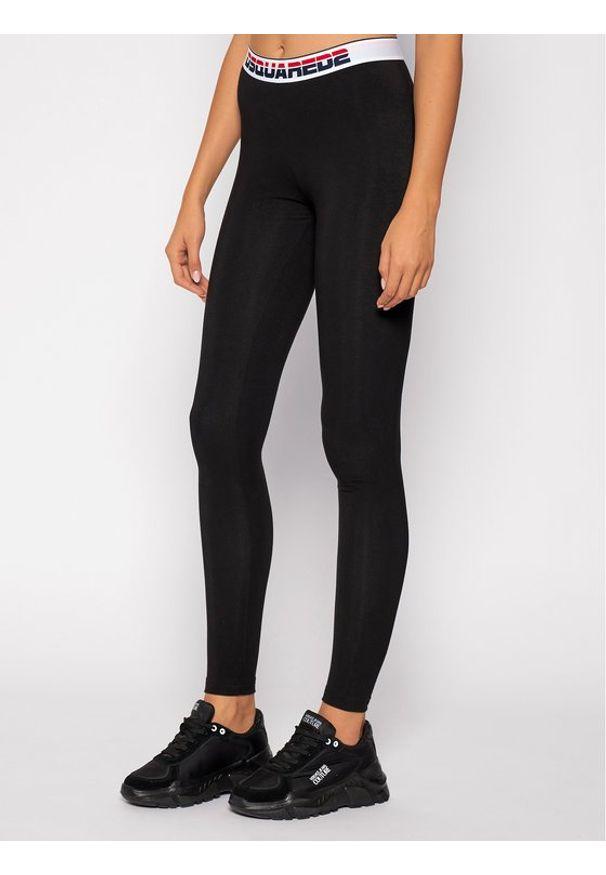 Czarne legginsy sportowe Dsquared2 Underwear