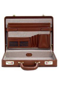 Neseser na laptopa MCKLEIN Daley 80434 Brązowy. Kolor: brązowy. Materiał: skóra. Wzór: aplikacja. Styl: klasyczny, retro #6