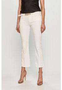 Białe jeansy bootcut Pinko gładkie, klasyczne