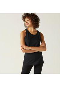 NYAMBA - Top damski Nyamba fitness Essential. Kolor: czarny. Materiał: bawełna, materiał. Długość rękawa: bez rękawów. Sport: fitness
