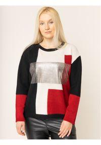 Sweter klasyczny Persona by Marina Rinaldi w kolorowe wzory