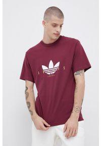 adidas Originals - T-shirt bawełniany. Kolor: fioletowy. Materiał: bawełna. Wzór: nadruk